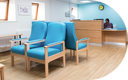 image of waiting room st charles integrated care centre